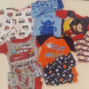 5t boys pajamas lot, shirt sleeve w/pants small